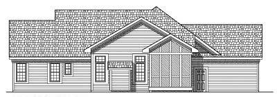 Rear Elevation Plan: 7-457