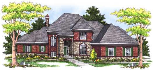 European Style House Plans Plan: 7-458