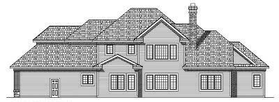 Rear Elevation Plan: 7-458