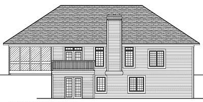 Rear Elevation Plan: 7-460