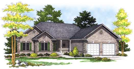 Traditional Style Home Design Plan: 7-461