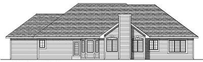 Rear Elevation Plan: 7-462