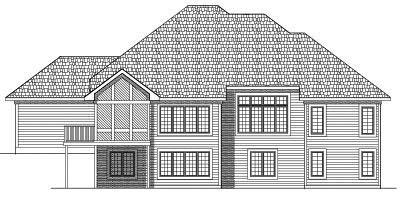 Rear Elevation Plan: 7-464