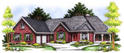 Ranch Style House Plans Plan: 7-465