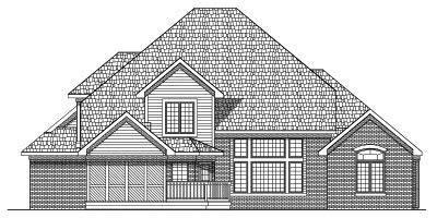 Rear Elevation Plan: 7-466