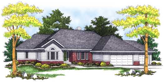 Traditional Style Home Design Plan: 7-469