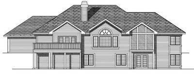 Rear Elevation Plan: 7-469