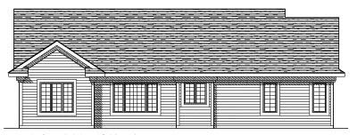 Rear Elevation Plan: 7-470