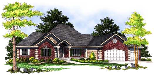 Traditional Style Home Design Plan: 7-475
