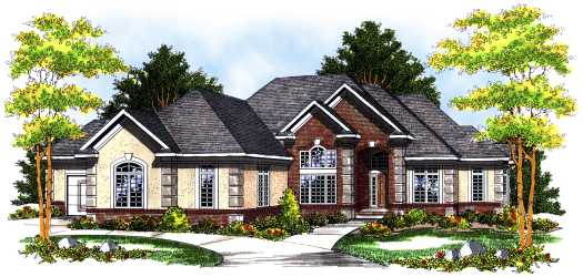 Traditional Style Home Design Plan: 7-476