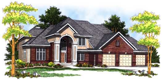 Traditional Style Home Design Plan: 7-480