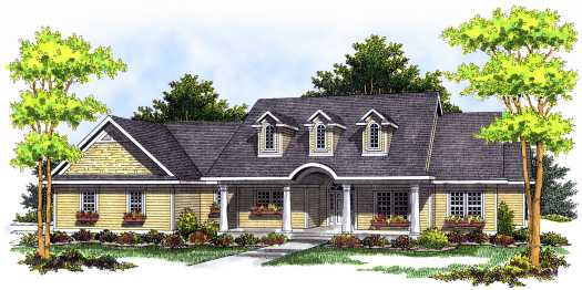 Country Style Home Design Plan: 7-481