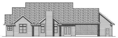 Rear Elevation Plan: 7-481