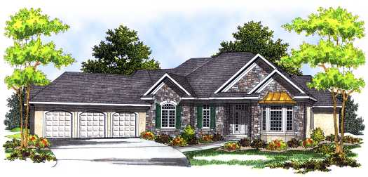 Traditional Style Floor Plans Plan: 7-483