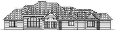 Rear Elevation Plan: 7-483