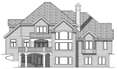 Rear Elevation Plan: 7-484