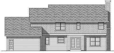 Rear Elevation Plan: 7-486