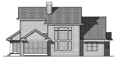 Rear Elevation Plan: 7-487
