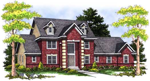 Traditional Style House Plans Plan: 7-489