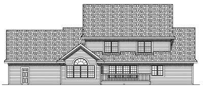 Rear Elevation Plan: 7-489
