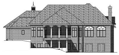 Rear Elevation Plan: 7-490