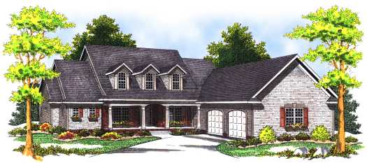 Country Style Home Design Plan: 7-492