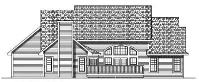 Rear Elevation Plan: 7-492