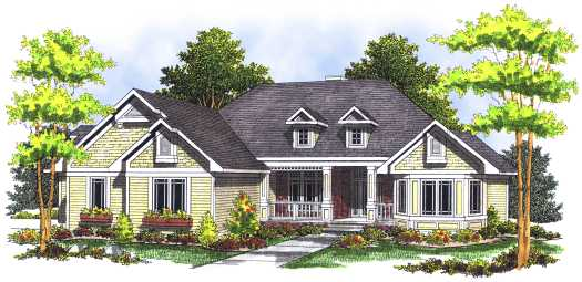 Traditional Style House Plans Plan: 7-493