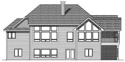 Rear Elevation Plan: 7-493
