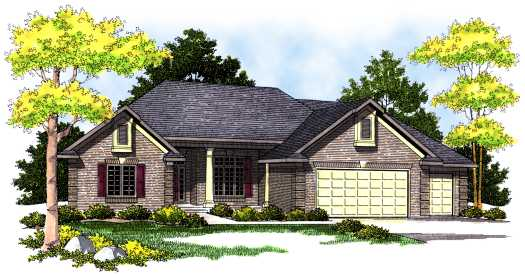 Traditional Style Home Design Plan: 7-494