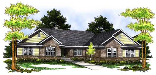 Ranch Style House Plans Plan: 7-495