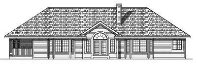 Rear Elevation Plan: 7-495