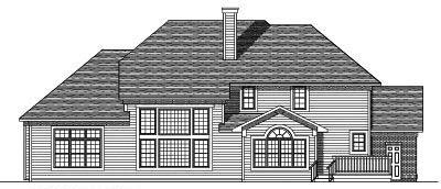 Rear Elevation Plan: 7-496