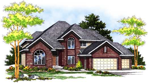 Traditional Style House Plans Plan: 7-497