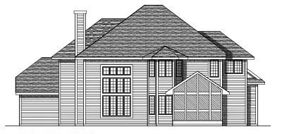 Rear Elevation Plan: 7-497