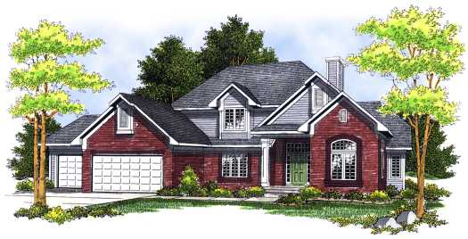 Traditional Style Floor Plans Plan: 7-498