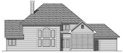 Rear Elevation Plan: 7-498