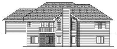 Rear Elevation Plan: 7-499