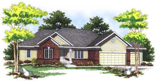 Traditional Style Home Design Plan: 7-500