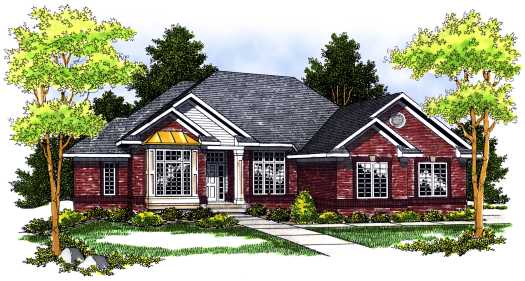 Traditional Style Home Design Plan: 7-501