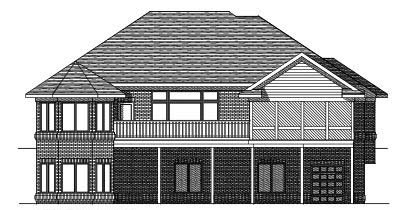Rear Elevation Plan: 7-501