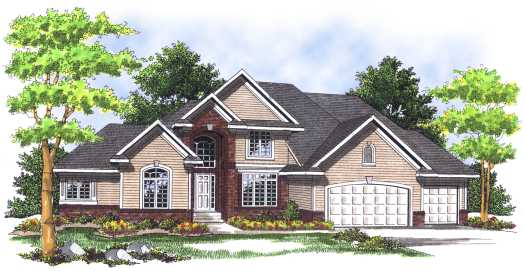 Traditional Style Home Design Plan: 7-503