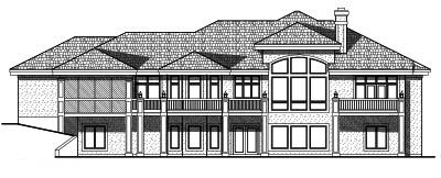 Rear Elevation Plan: 7-506
