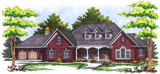 Country Style Home Design Plan: 7-507
