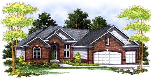 Traditional Style Home Design Plan: 7-511