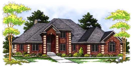 European Style House Plans Plan: 7-512