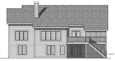 Rear Elevation Plan: 7-513