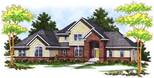 Traditional Style Home Design Plan: 7-514