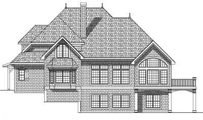 Rear Elevation Plan: 7-515