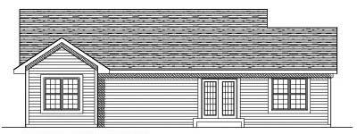 Rear Elevation Plan: 7-517